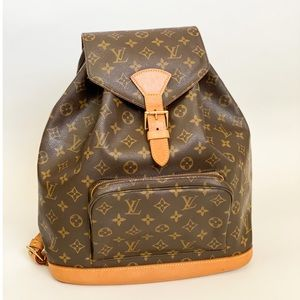 🤍Beautiful 🤍Large LV montsouris GM Backpack